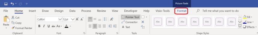 visio_ribbon_bar_with_format_tab