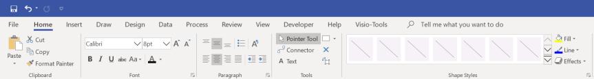 visio_ribbon_bar_without_format_tab
